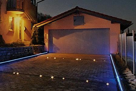 Garageneinfahrt Beleuchtung
